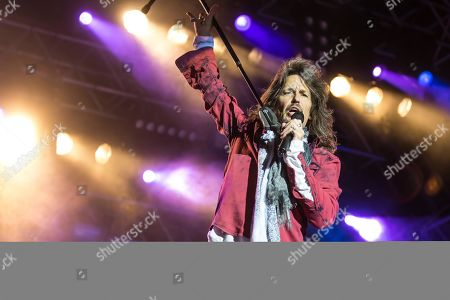 Stock Picture of The British-American rock band Foreigner with singer Kelly Hansen live at the Magic Night at the Heitere Zofingen, Aargau, Switzerland