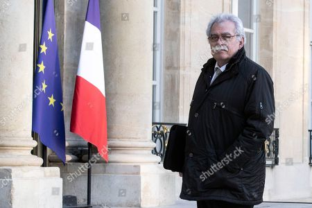 French Communist Party group president Andre Chassaigne arrives for a meeting with French President Emmanuel Macron at the Elysee Palace in Paris, France, 05 February 2019.