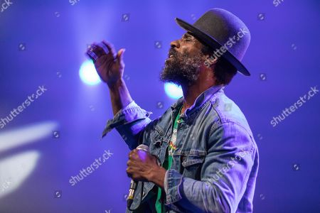 The American soul singer and guitarist Cody Chesnutt live at the 25th Blue Balls Festival in Lucerne, Switzerland