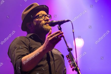 Stock Photo of The German musician Gregor Meyle live at the 25th Blue Balls Festival in Lucerne, Switzerland