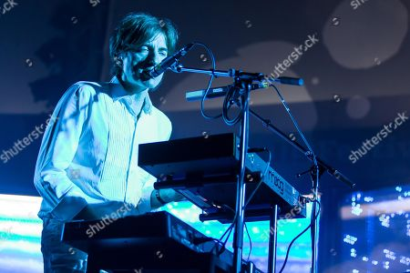 Stock Picture of The French synth-pop band Air with guitarist Nicolas Godin and keyboarder Jean-Benoit Dunckel live at the Blue Balls Festival in Lucerne, Switzerland