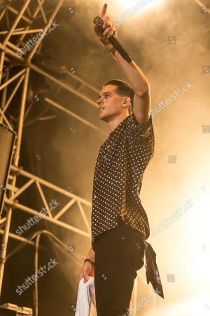 Stock Photo of The US-American rapper Gerald Earl Gillum alias G-Eazy live at the 26th Heitere Open Air in Zofingen, Aargau, Switzerland