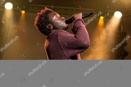 The British soul singer Kwabs live at the Blue Balls Festival Lucerne, Switzerland