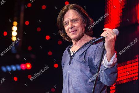 Stock Picture of German pop singer Juergen Drews live at the 16th Schlager Nacht in Lucerne, Switzerland