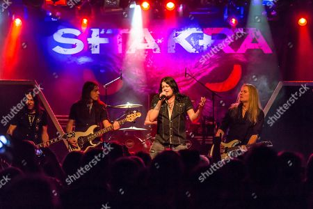 The Swiss hard rock band Shakra live in the Schueuer Lucerne, Switzerland Mark Fox, vocals Thom Blunier, guitar Thomas Muster, guitar Dominik Pfister, bass Roger Tanner, drums