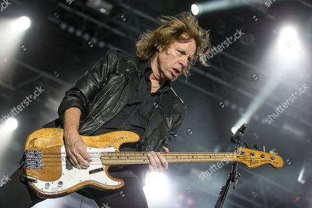 Thom Gimbel, guitarist of the British-American rock band Foreigner live at the Magic Night on the Heitere Zofingen, Aargau, Switzerland