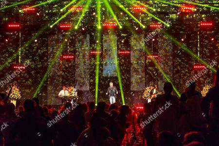 Stock Image of The Austrian pop singer Nik P. live at the 16th Schlager Nacht in Lucerne, Switzerland