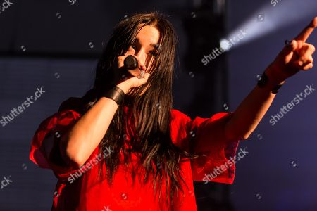 The US American singer-songwriter and music producer Zola Jesus live at the Blue Balls Festival Lucerne, Switzerland