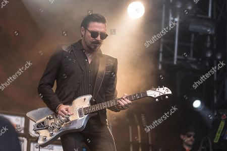 The American rock band Rival Sons live at the 27th Heitere Open Air in Zofingen, Aargau, Switzerland Jay Buchanan, vocals Scott Holiday, guitar Dave Beste, bass