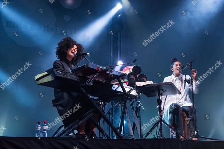 The French-Cuban music duo Ibeyi, which consists of the twin sisters Lisa-Kainde and Naomi Diaz, will perform live at the Blue Balls Festival in Lucerne, Switzerland.