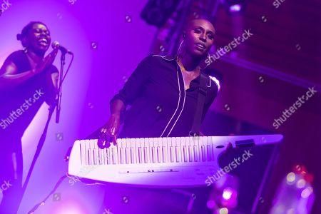 The British soul pop singer Laura Mvula live at the Blue Balls Festival Lucerne, Switzerland