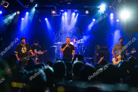 Stock Photo of The US-American hard rock band Ugly Kid Joe live in the Schueuer Lucerne, Switzerland vocals, Whitfield Crane guitar, Klaus Eichstadt drumset, Shannon Larkin guitar, Dave Fortman electric bass, Cordell Crockett