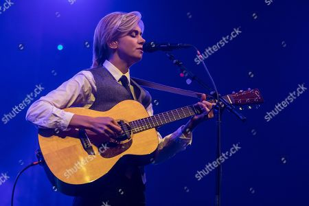 Stock Image of Swedish singer-songwriter Anna Ternheim live at the 26th Blue Balls Festival in Lucerne, Switzerland