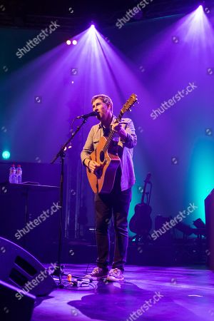 Stock Image of The British singer and songwriter Jamie Lawson live at the Blue Balls Festival Lucerne, Switzerland
