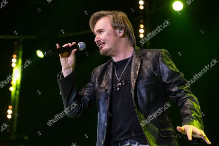Stock Picture of The Austrian pop singer Nik P. live at the 16th Schlager Nacht in Lucerne, Switzerland