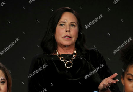 """I. Marlene King participates in the """"Youth Movement"""" panel during the Freeform presentation at the Television Critics Association Winter Press Tour at The Langham Huntington, in Pasadena, Calif"""