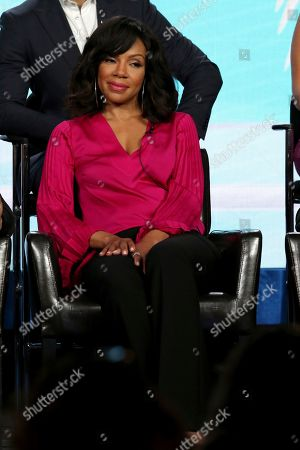 "Wendy Raquel Robinson participates in the ""Grand Hotel"" panel during the ABC presentation at the Television Critics Association Winter Press Tour at The Langham Huntington, in Pasadena, Calif"