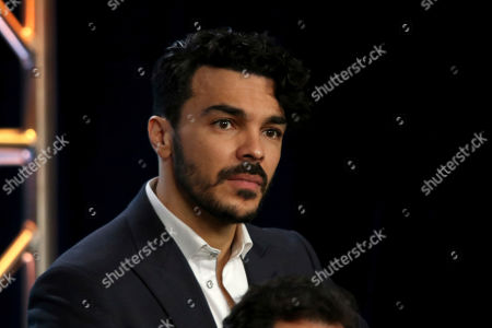 """Shalim Ortiz participates in the """"Grand Hotel"""" panel during the ABC presentation at the Television Critics Association Winter Press Tour at The Langham Huntington, in Pasadena, Calif"""