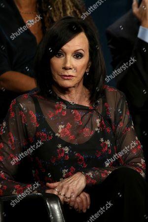 """Marcia Clark participates in the """"The Fix"""" panel during the ABC presentation at the Television Critics Association Winter Press Tour at The Langham Huntington, in Pasadena, Calif"""