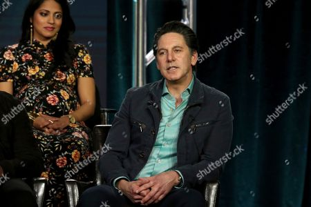 """Scott Cohen participates in the """"The Fix"""" panel during the ABC presentation at the Television Critics Association Winter Press Tour at The Langham Huntington, in Pasadena, Calif"""