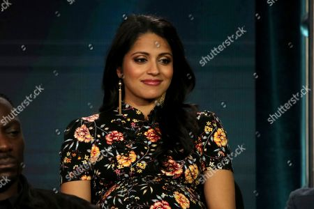 """Stock Image of Mouzam Makkar participates in the """"The Fix"""" panel during the ABC presentation at the Television Critics Association Winter Press Tour at The Langham Huntington, in Pasadena, Calif"""