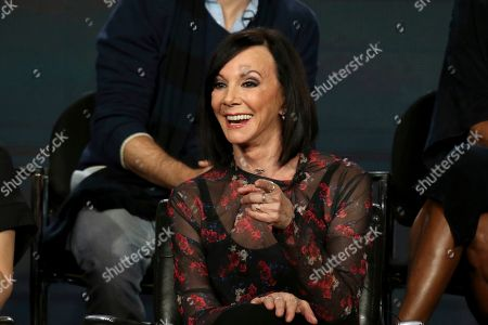 """Stock Photo of Marcia Clark participates in the """"The Fix"""" panel during the ABC presentation at the Television Critics Association Winter Press Tour at The Langham Huntington, in Pasadena, Calif"""