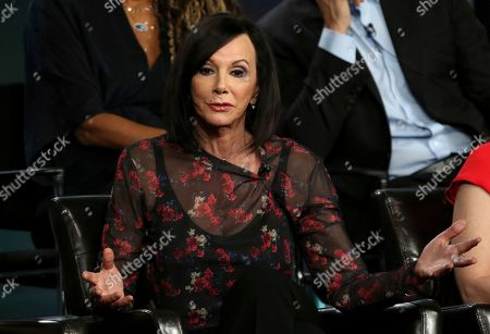 """Stock Image of Marcia Clark participates in the """"The Fix"""" panel during the ABC presentation at the Television Critics Association Winter Press Tour at The Langham Huntington, in Pasadena, Calif"""