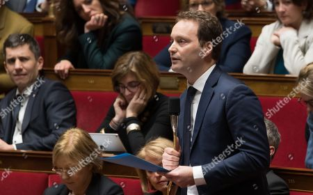 Sylvain Maillard during the weekly session of questions to the government at the National Assembly.