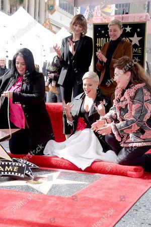 Rana Ghadban, Kerri Kenney-Silver, Pink, Ellen DeGeneres and Donelle Dadigan