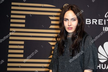 Elena Carriere poses at the black carpet prior to the PLACE TO B Pre-Berlinale Dinner in Berlin, Germany, 05 February 2019.