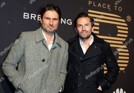 Simon Verhoeven (L) and Quirin Berg (R) pose at the black carpet prior to the PLACE TO B Pre-Berlinale Dinner in Berlin, Germany, 05 February 2019.