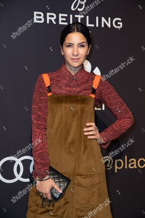Chryssanthi Kavazi poses at the black carpet prior to the PLACE TO B Pre-Berlinale Dinner in Berlin, Germany, 05 February 2019.