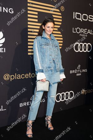 Lea van Acken poses at the black carpet prior to the PLACE TO B Pre-Berlinale Dinner in Berlin, Germany, 05 February 2019.