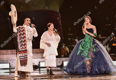 Stock Photo of Aida Cuevas, Natalia Lafourcade and Angela Aguilar