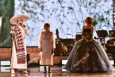 Aida Cuevas, Natalia Lafourcade and Angela Aguilar