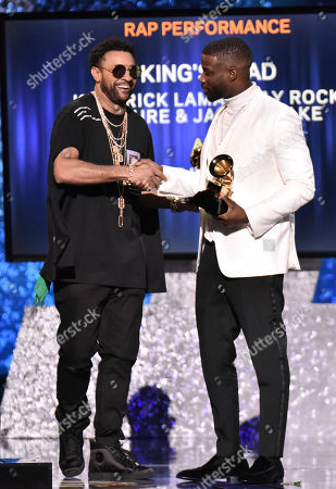 Stock Photo of Shaggy and Jay Rock