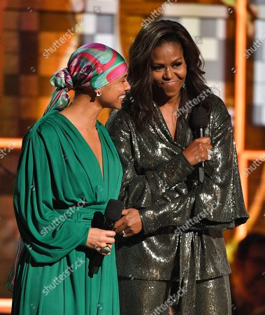 Stock Photo of Alicia Keys and Michelle Obama