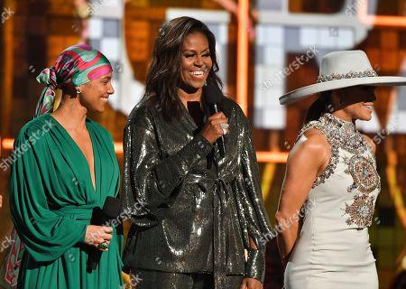 Alicia Keys, Michelle Obama and Jennifer Lopez