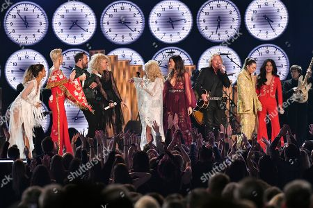 Stock Photo of Maren Morris, Katy Perry, Dolly Parton, Kacey Musgraves, Miley Cyrus and Little Big Town