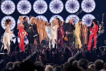 Maren Morris, Katy Perry, Dolly Parton, Kacey Musgraves, Miley Cyrus and Little Big Town