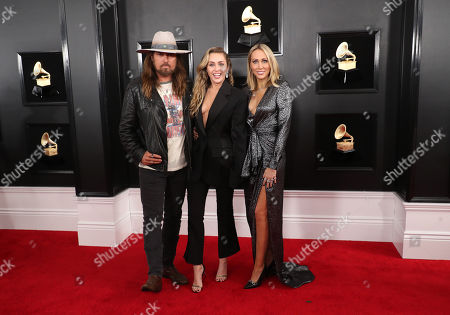 Stock Image of Billy Ray Cyrus, Miley Cyrus and Letitia Cyrus