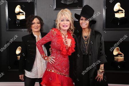 Sara Gilbert, Dolly Parton and Linda Perry