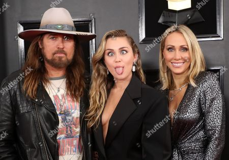 Billy Ray Cyrus, Miley Cyrus and Letitia Cyrus