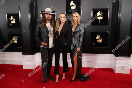 Stock Picture of Billy Ray Cyrus, Miley Cyrus and Letitia Cyrus