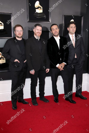 Stock Image of Patrick Stump, Andy Hurley, Pete Wentz and Joe Trohman of Fall Out Boy