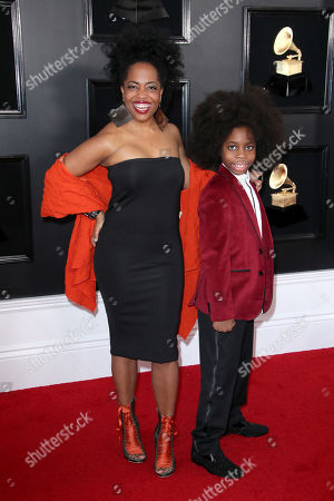 Stock Photo of Rhonda Ross Kendrick and Raif-Henok Emmanuel Kendrick