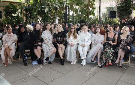 Angela Bassett, Este Haim, Danielle Haim, Alana Haim, Maggie Rogers, Elsie Fisher, Mackenzie Foy and Shailene Woodley in the front row