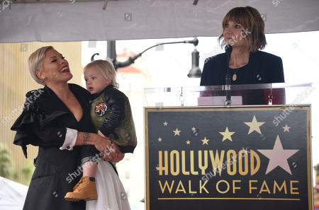 Pink, Jameson, Kerri Kenney-Silver. Kerri Kenney-Silver, right, speaks while Pink holds son Jameson at a ceremony where the singer receives a star on the Hollywood Walk of Fame, in Los Angeles