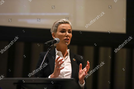 Gunhild Stordalen during a meeting to talk about food in the world at the UN Headquarters