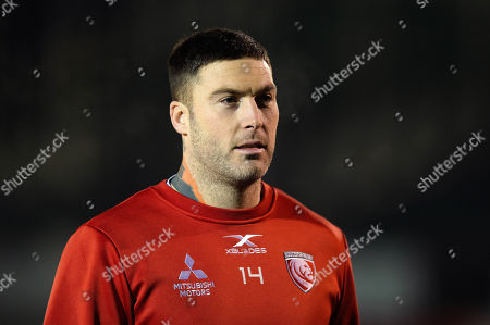 Matt Banahan of Gloucester Rugby looks on prior to the match